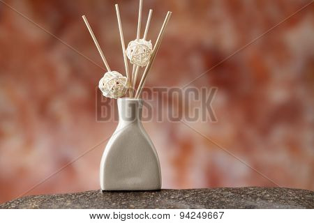 aroma stick in the vase