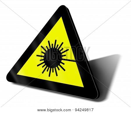 laser ray traffic sign