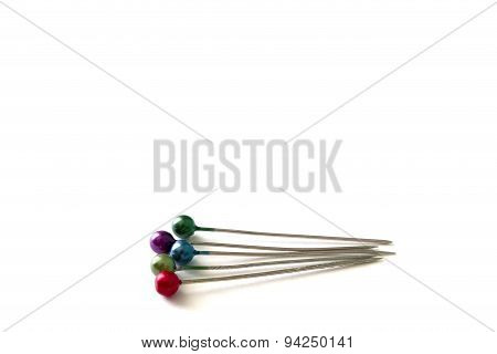Multicolored Pin Isolated On White Background