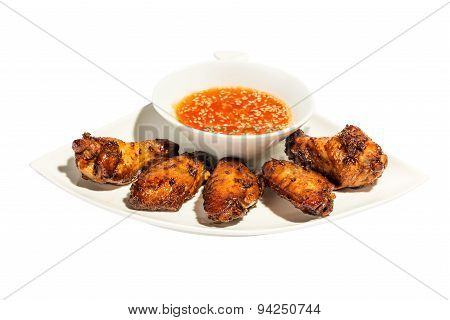 Chicken thighs with sauce