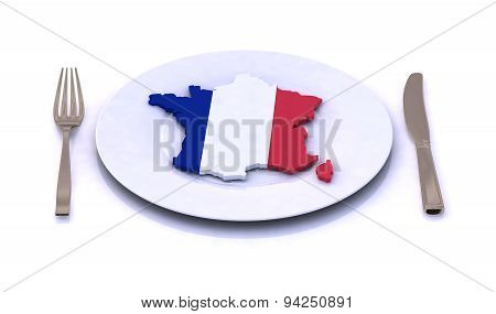 Plate With French Map