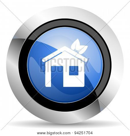 house icon ecological home symbol original modern design for web and mobile app on white background