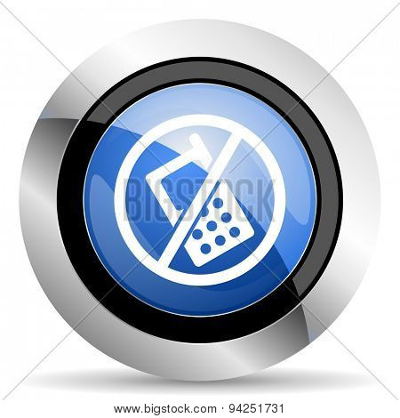 no phone icon no calls sign  original modern design for web and mobile app on white background