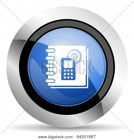 phonebook icon  original modern design for web and mobile app on white background