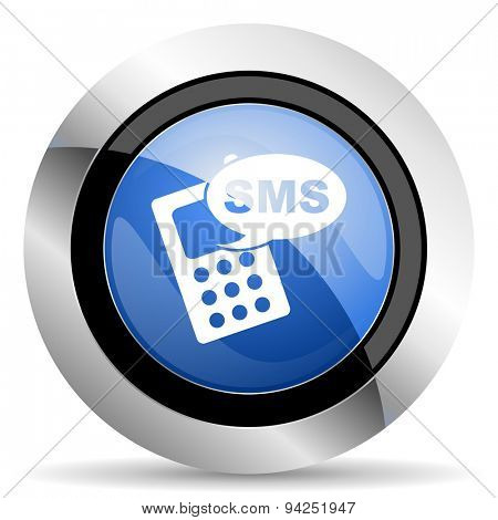 sms icon phone sign original modern design for web and mobile app on white background