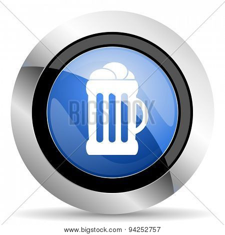 beer icon mug sign original modern design for web and mobile app on white background
