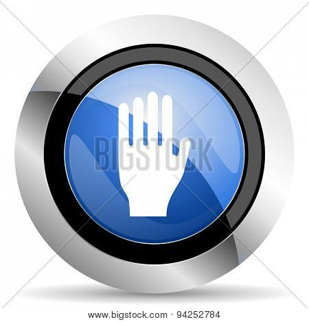 stop icon hand sign original modern design for web and mobile app on white background