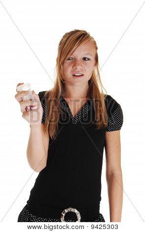 Girl Not Liking Pills.