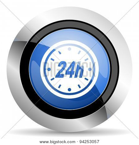 24h icon  original modern design for web and mobile app on white background