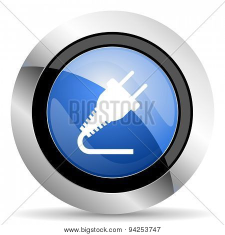 plug icon electricity sign original modern design for web and mobile app on white background