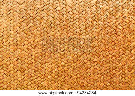 Brown Rattan Texture Background Pattern.