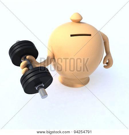 Money Box With Arms And Weight