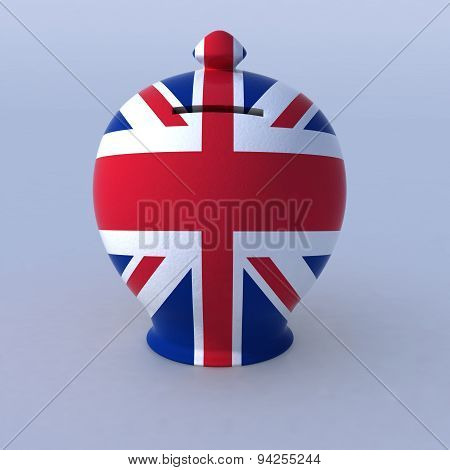 Money Box With English Flag