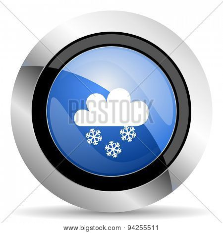 snowing icon waether forecast sign original modern design for web and mobile app on white background