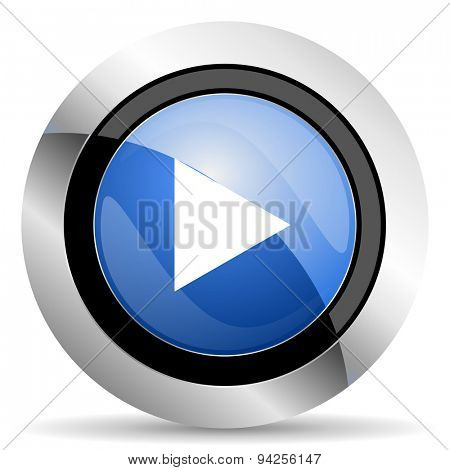 play icon  original modern design for web and mobile app on white background