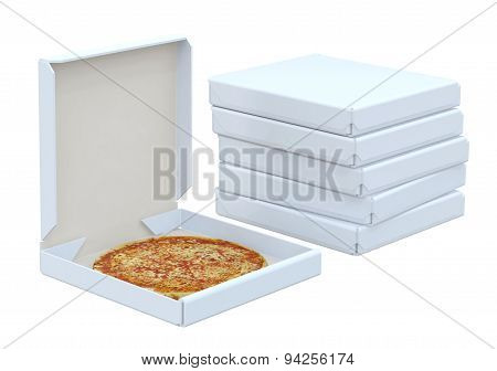 Pizza In Box And Many Box
