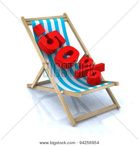 Beach Chair With -50% Number