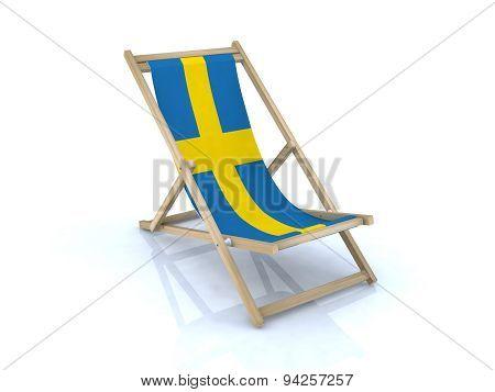 Beach Chair With Swedish Flag