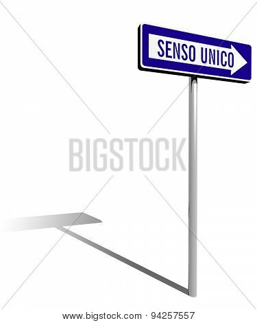 Traffic Sign One Way (italian Version)