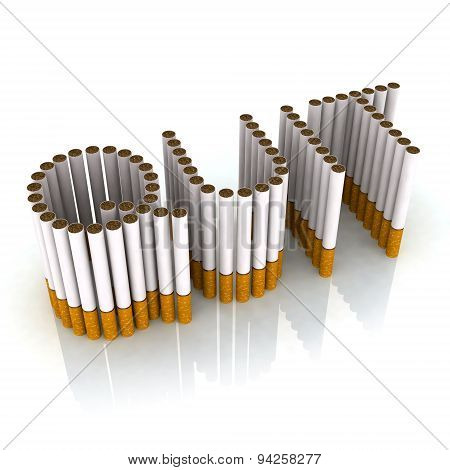 Written Quit Made With Cigarettes