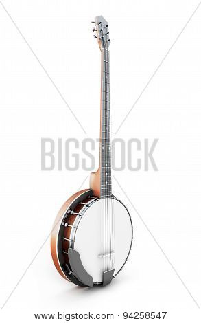 Banjo On A White