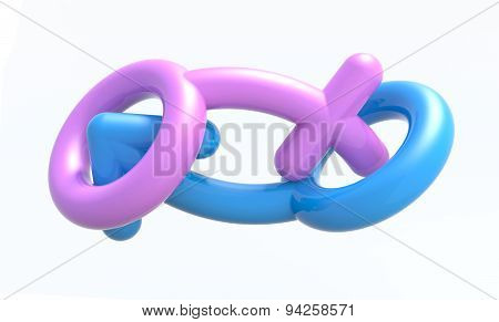 Sexual Symbols Man And Woman Making Love