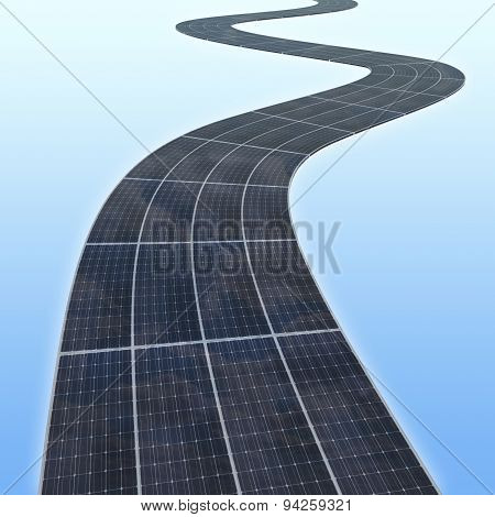 Solar Panes Highway