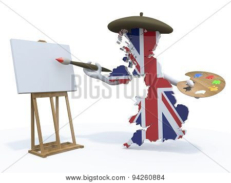 United Kingdom Map Painter