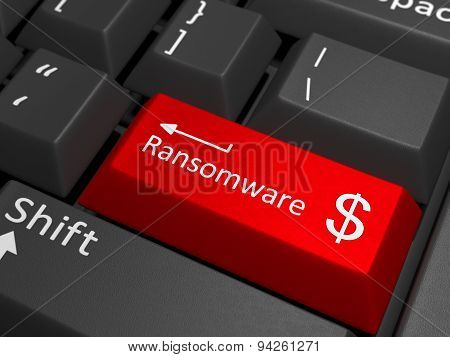 Ransomware Dollar Key On Keyboard