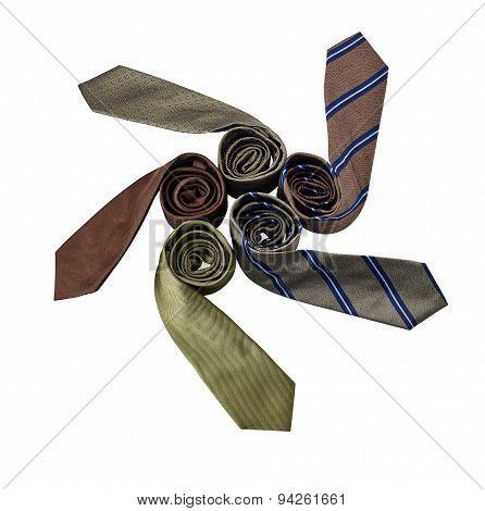 Necktie Isolated On White