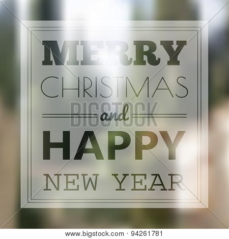 Christmas card with typography design