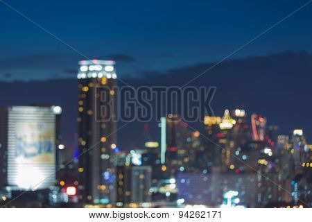 Abstract city blurred photo bokeh during twilight