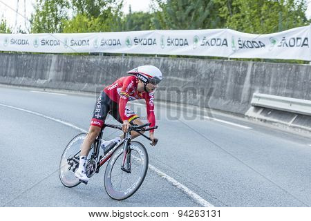The Cyclist Tony Gallopin - Tour De France 2014