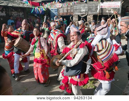 Traditional Ethnical Festival In Nepal