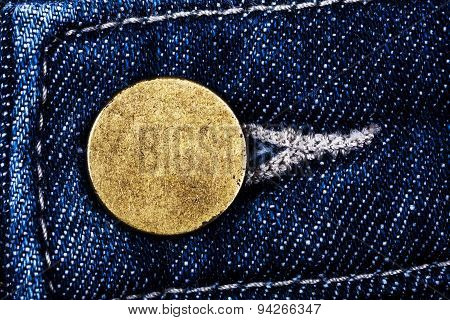Old Metal Button Of Jeans