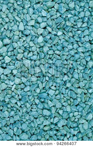 Cyan Colored Pebbles, Detail, Vertical