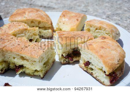 Seasoned Bread, Typical Sicilian Dish.
