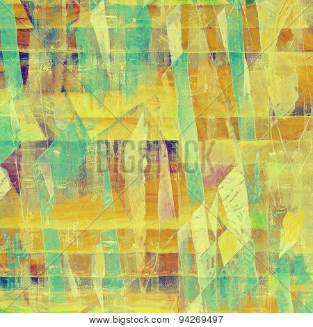 Old abstract grunge background for creative designed textures. With different color patterns: yellow (beige); brown; blue; green; purple (violet)