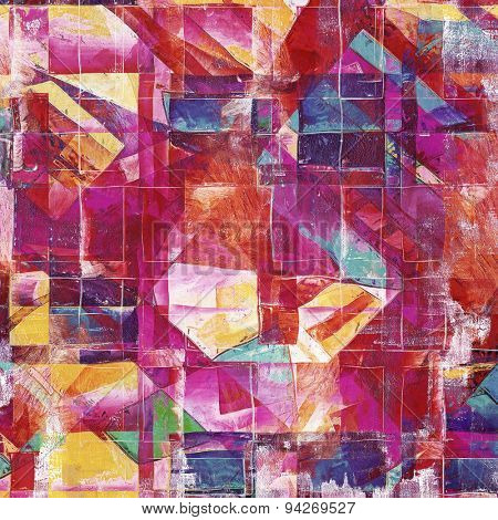 Designed background in grunge style. With different color patterns: yellow (beige); blue; purple (violet); pink; red (orange)