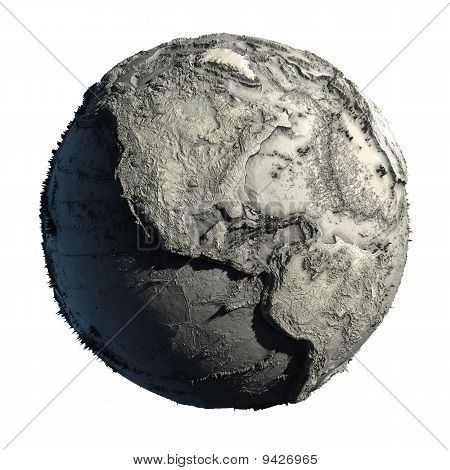 Dead Planet Earth Without Water