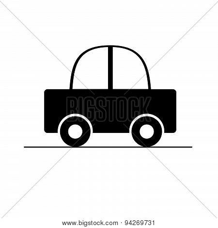 Car Black Vector Illustration