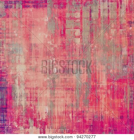 Old vintage background with retro-style elements and different color patterns: gray; purple (violet); pink; red (orange)