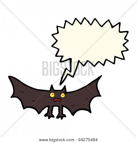 cartoon bat with speech bubble