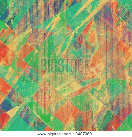 Grunge old-fashioned background with space for text or image. With different color patterns: brown; blue; green; red (orange)