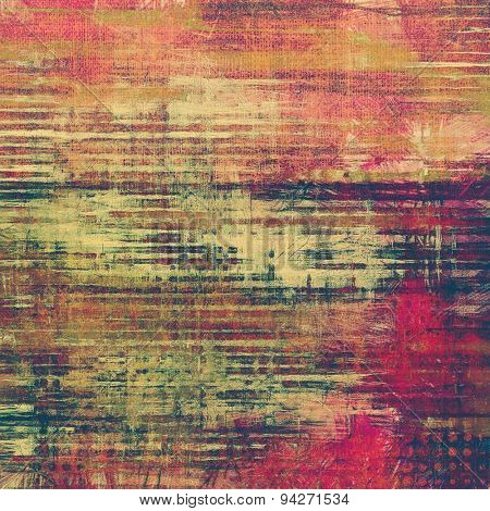 Retro background with old grunge texture. With different color patterns: yellow (beige); green; purple (violet); pink