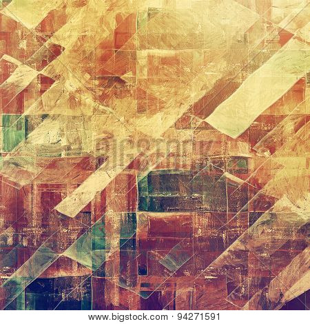Abstract blank grunge background, old texture with stains and different color patterns: yellow (beige); brown; green; purple (violet)