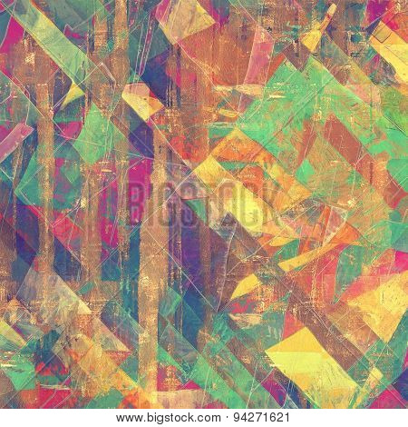 Grunge old-fashioned background with space for text or image. With different color patterns: yellow (beige); brown; green; purple (violet); red (orange)