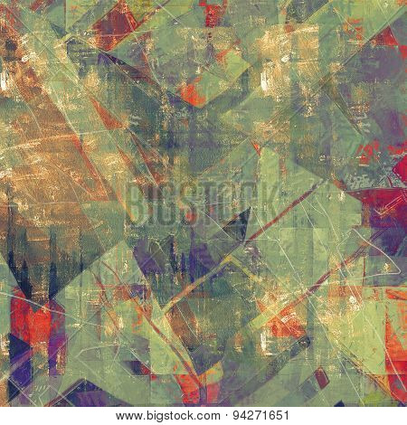 Vintage texture with space for text or image. With different color patterns: brown; green; purple (violet); red (orange)