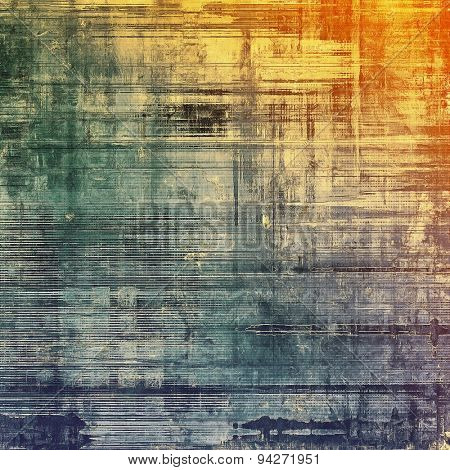 Art vintage background with space for text and different color patterns: gray; green; purple (violet); red (orange)
