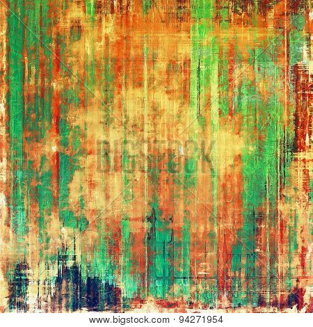 Old, grunge background or ancient texture. With different color patterns: yellow (beige); green; red (orange); cyan